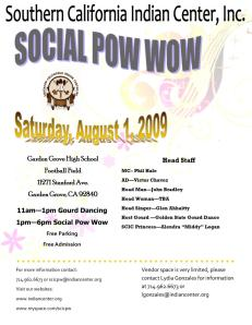 The Pow Wow is now being held at Garden Grove High School on Aug. 1st
